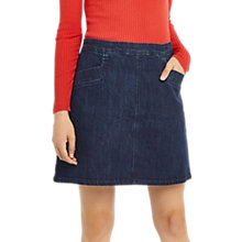Buy Oasis Denim Pocket Mini Skirt, Dark Wash Online at johnlewis.com