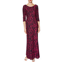 Buy Gina Bacconi Phyllis Lace Maxi Dress, Cerise Online at johnlewis.com