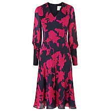 Buy L.K. Bennett Mina Chiffon Dress, Rosehip Online at johnlewis.com