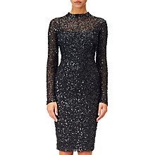 Buy Adrianna Papell Sequin Dress, Black Online at johnlewis.com