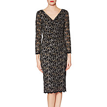 Buy Gina Bacconi Alexandra Lace Dress, Gold/Silver Online at johnlewis.com