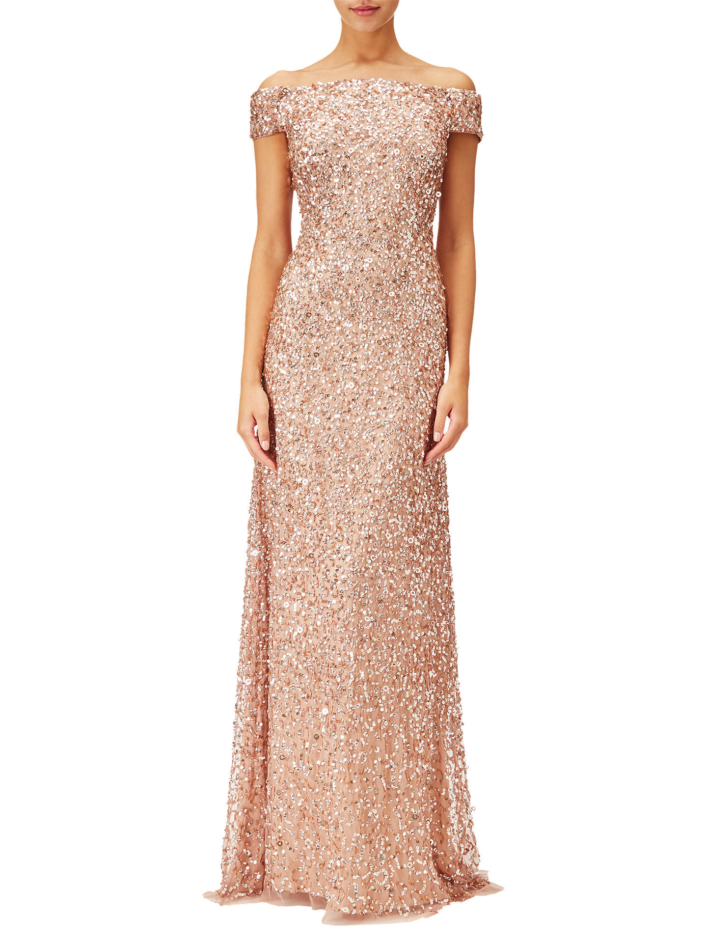 2db6481ffad Buy Adrianna Papell Off Shoulder Beaded Gown