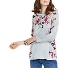 Buy Oasis Kimono Mirrored Top, Mid Grey Online at johnlewis.com
