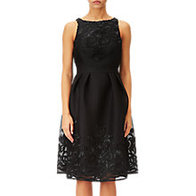 Buy Adrianna Papell Soutache Mesh Dress, Black Online at johnlewis.com