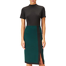 Buy Adrianna Papell Colour Block Sheath Dress, Black/Green Online at johnlewis.com