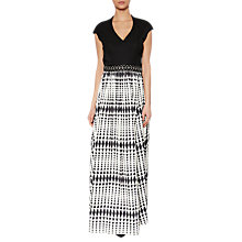 Buy Gina Bacconi Harriet Printed Satin Maxi Dress, Black/White Online at johnlewis.com