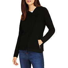 Buy Phase Eight Brielle Biker Cardigan, Black Online at johnlewis.com