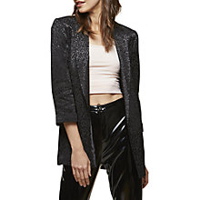 Buy Miss Selfridge Sharp Shouldered Blazer, Black Online at johnlewis.com