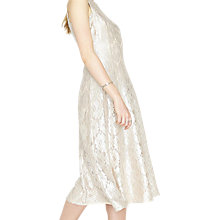 Buy Miss Selfridge Metallic Lace Midi Dress, Gold Online at johnlewis.com
