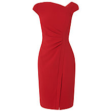 Buy L.K. Bennett Tassa Fitted Crepe Dress, Deep Red Online at johnlewis.com