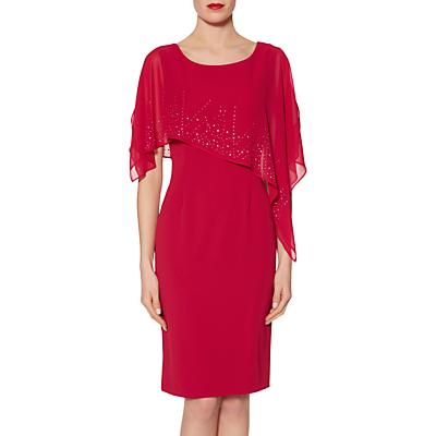 Gina Bacconi Gabriella Beaded Cape Dress