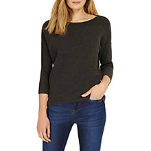 Buy Phase Eight Piera Round Neck Knitted Jumper, Charcoal Online at johnlewis.com