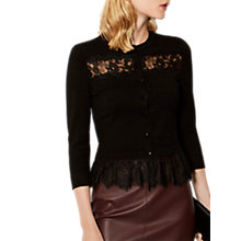 Buy Karen Millen Lace Insert Cardigan, Black Online at johnlewis.com
