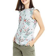Buy Oasis Kimono Shell Top, Multi/Grey Online at johnlewis.com