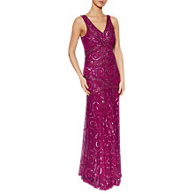 Buy Gina Bacconi Iris Beaded Maxi Dress, Magenta Online at johnlewis.com