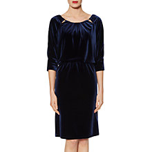 Buy Gina Bacconi Lillian Velvet Keyhole Dress, Navy Online at johnlewis.com