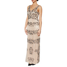 Buy Gina Bacconi Gemma Floral Beaded Maxi Dress, Nude Online at johnlewis.com