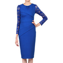 Buy Jolie Moi Lace Sleeved Bodycon Dress, Royal Blue Online at johnlewis.com