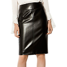 Buy Karen Millen The Essentials Faux Leather Skirt, Black Online at johnlewis.com