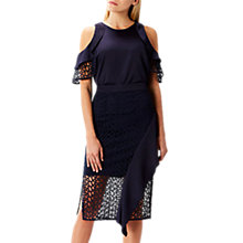 Buy Coast Anneliese Ruffle Skirt, Navy Online at johnlewis.com