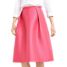 Buy Oasis Satin Twill Midi Skirt, Bright Pink Online at johnlewis.com