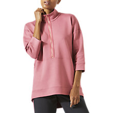 Buy Jigsaw Athleisure Double Faced Zip Top, Rose Online at johnlewis.com