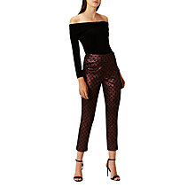Buy Coast Eve Jacquard Trousers, Multi Online at johnlewis.com