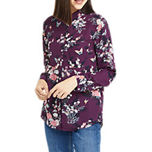 Buy Oasis Floral Kimono Shirt, Multi Purple Online at johnlewis.com