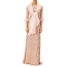 Buy Adrianna Papell Short Sleeve Organza Wrap Jacket, Blush Online at johnlewis.com