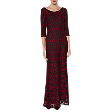 Buy Gina Bacconi Lola Floral Lace Maxi Dress, Wine Online at johnlewis.com