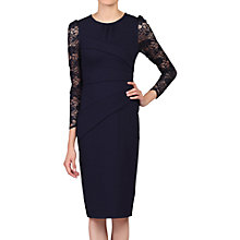 Buy Jolie Moi Lace Sleeved Bodycon Dress, Navy Online at johnlewis.com