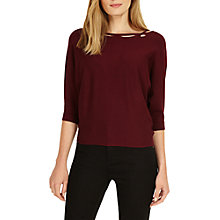 Buy Phase Eight Twist Neck Cristine Knit, Merlot Marl Online at johnlewis.com