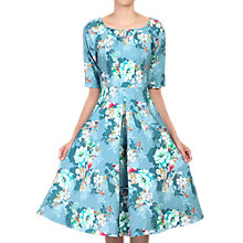 Buy Jolie Moi Floral Half Sleeved Swing Dress, Floral Teal Online at johnlewis.com