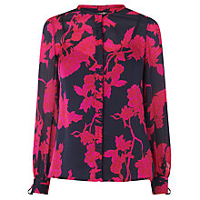 Buy L.K. Bennett Mina Ruffle Blouse, Rosehip Online at johnlewis.com