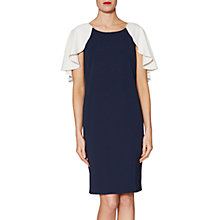 Buy Gina Bacconi Chantelle Contrast Cape Crepe Dress Online at johnlewis.com