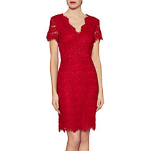Buy Gina Bacconi Darcy Lace Dress, Red Online at johnlewis.com