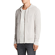 Buy AllSaints Trias Chunky Knit Cotton Hoodie, Grey Online at johnlewis.com