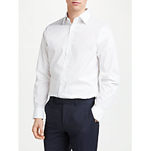 Buy John Lewis Non Iron Cotton Poplin Tailored Fit Shirt, White Online at johnlewis.com