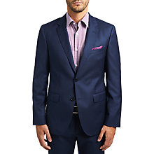 Buy HUGO by Hugo Boss C-Jeffery Wool Micro Pattern Regular Fit Suit Jacket, Navy Online at johnlewis.com
