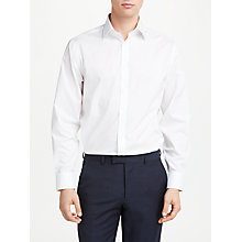 Buy John Lewis Non Iron Cotton Poplin Regular Fit Shirt, White Online at johnlewis.com