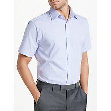 Buy John Lewis Micro Check Tailored Fit Short Sleeve Shirt, Lilac Online at johnlewis.com