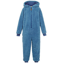 Buy Fat Face Children's Walrus Fleece Onesie, Blue Online at johnlewis.com