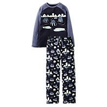 Buy Fat Face Children's Walrus Jersey Pyjamas, Blue Online at johnlewis.com