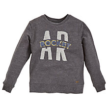 Buy Angel & Rocket Boys' Branded Sweatshirt, Grey Online at johnlewis.com