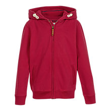 Buy Fat Face Boys' Plain Hoodie, Red Online at johnlewis.com