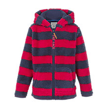 Buy Fat Face Boys' Stripe Fleece Hoodie, Red Online at johnlewis.com