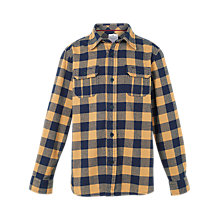 Buy Fat Face Boys' Buffalo Check Shirt, Yellow Online at johnlewis.com
