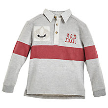 Buy Angel & Rocket Boys' Striped Rugby Shirt, Grey Online at johnlewis.com