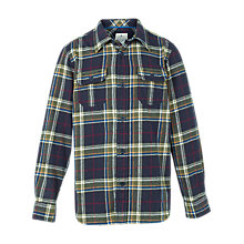 Buy Fat Face Boys' Camp Fire Check Shirt, Blue Online at johnlewis.com