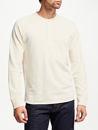 JOHN LEWIS & Co. Long Sleeve Henley T-Shirt, Natural